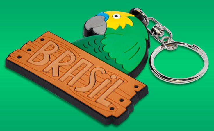 Design de chaveiro BW. Um excelente souvenir do Brasil.