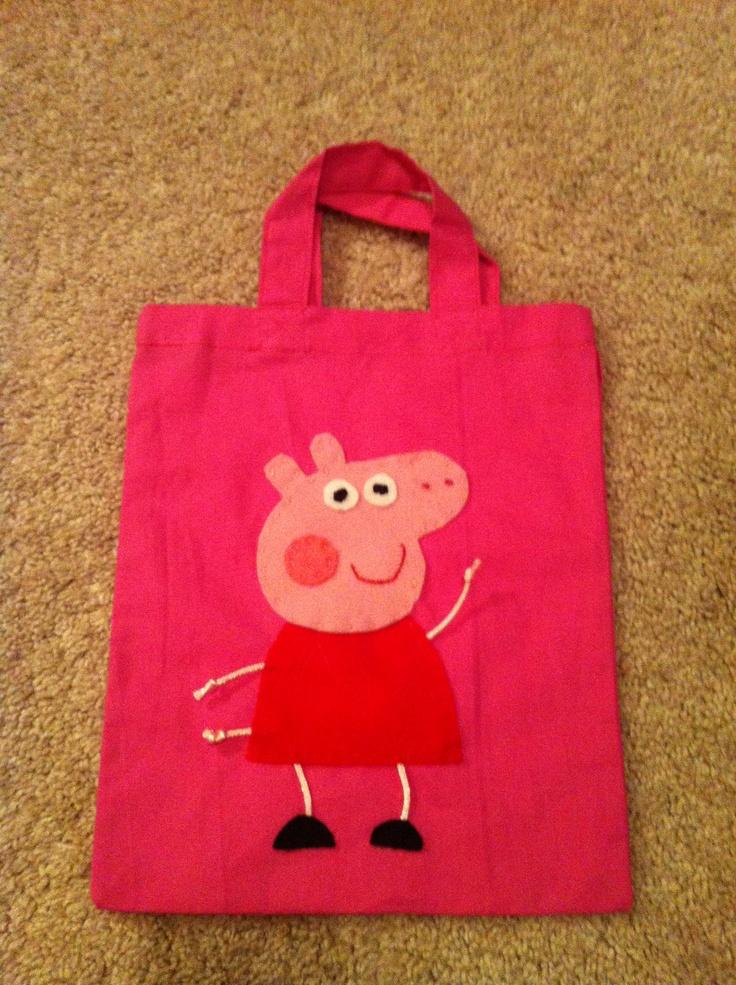 Peppa Pig party bags..or sock bag