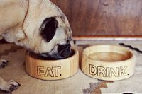 DIY dog food bowls... Would be cute with my dog's name too