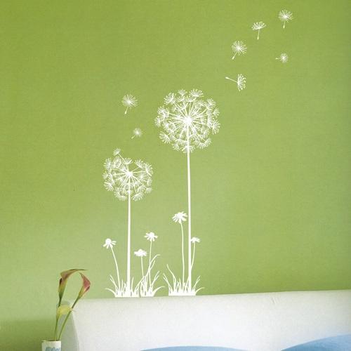 Dandelion in Wind Wall & Window Sticker