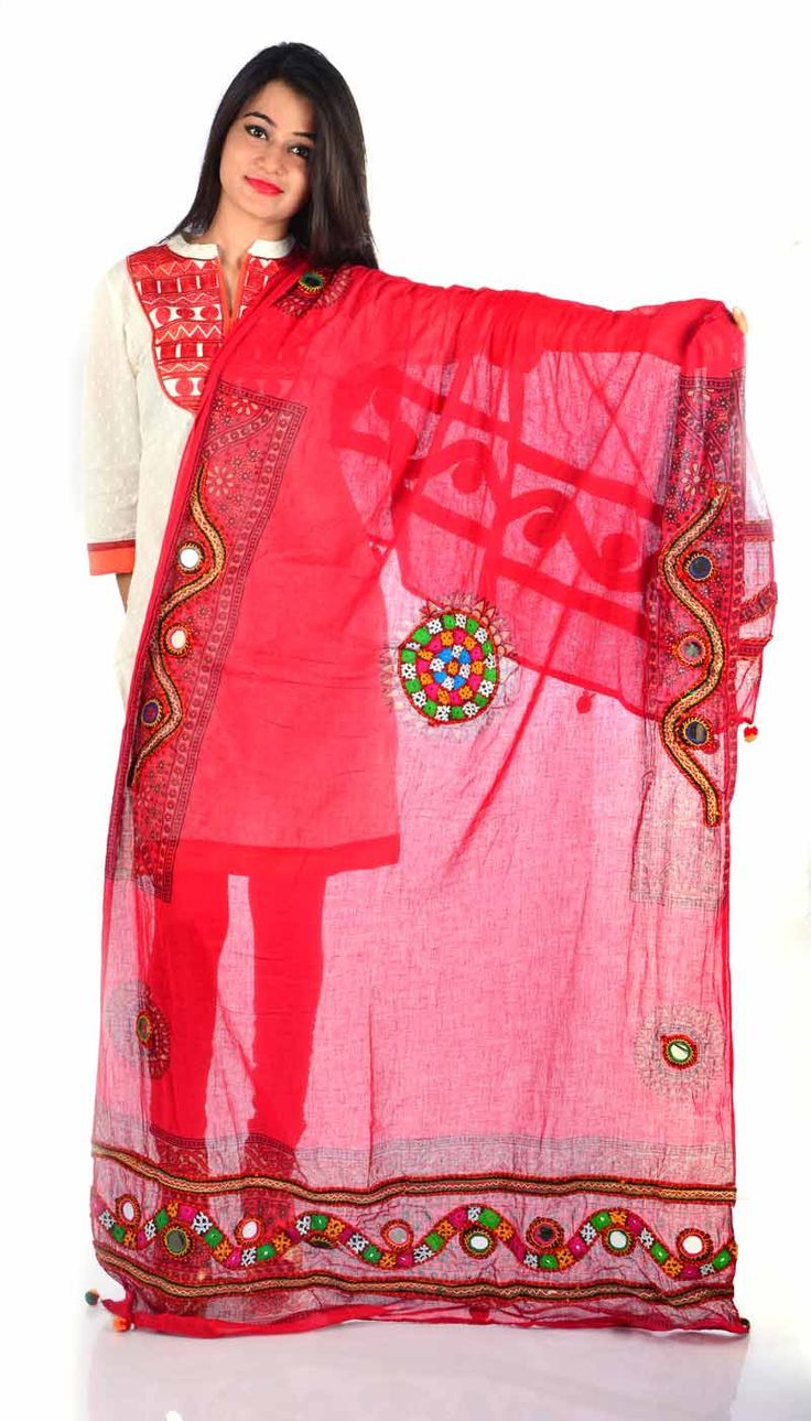 Styleincraft Handwork  cotton carrot color designer Dupatta. This combination is unique mix and match embroidery work and block printing. you can find our best collection in Dupattas. This is   Traditional work dupattas wear on  multiple dresses as multi color thread embroide  #Buyhandbagsonline #HandmadeHandbags #Authenticdesignerhandbags #Womenswallets #Pursesonline #Handmadeitems #Styleincraft