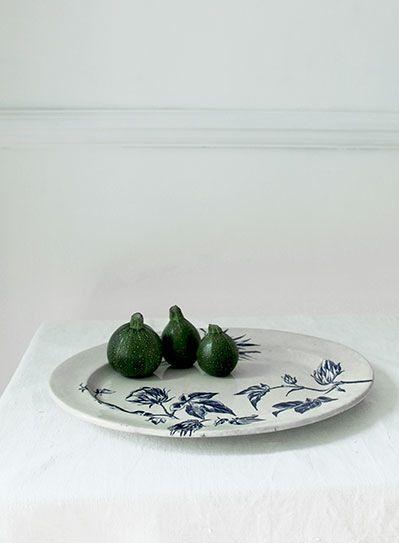 Image of Vintage Cotton Plant Platter