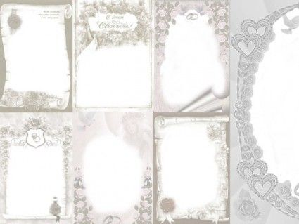 7 models elegant european style wedding photo frame template
