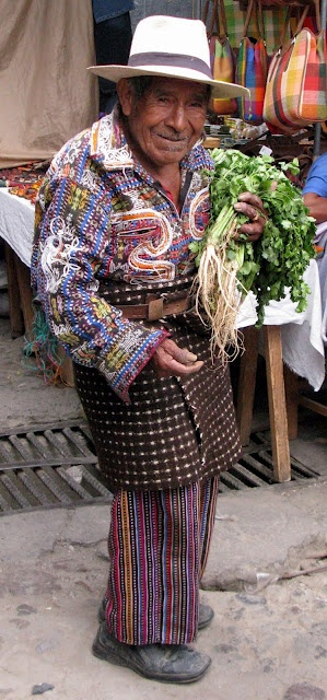 Solola men's costume, Atitlan lake, Guatemala