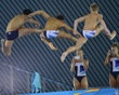 British divers Couch and Barrow take photographs of Daley and diving teammates from the 10 metre board at the Aquatics Centre in the Olympic Park in Stratford in east London, yah i would be taking their pictures too...