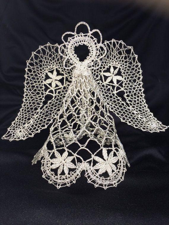 Прекрасный кружевной ангелок от LadyLaceFromRussia на Etsy, $49.00