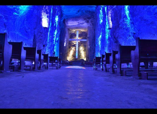 Although the Salt Cathedral isn't recognized by the church as an actual place of worship, an average of 3,000 Catholics visit the attraction on Sundays alone -- this was taken on a quiet Tuesday.