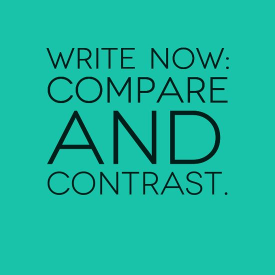 compare contrast essay writing styles