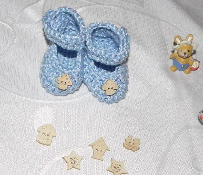 Scarpette azzurre in cotone ...più varianti!