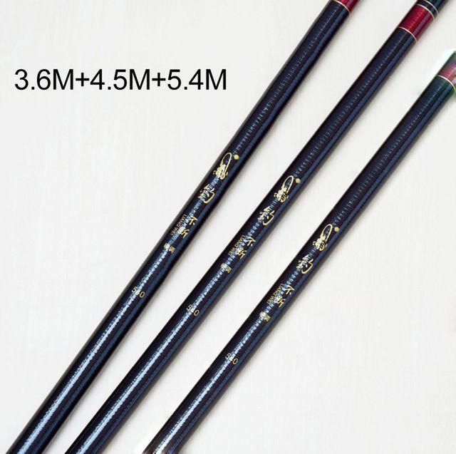 3 pcs 3.6 M + 4.5 M + 5.4 M Barato-pesca-varas de Pesca Da Carpa Haste De Viagem Mão Rod Telescópica Pólo Peixe Olta produtos de pesca china FG67