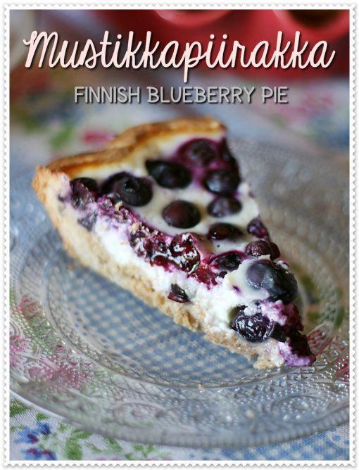 Mustikkapiirakka - Finnish blueberry pie (recipe in Italian but google translates well enough. Unusual rye pastry base.)