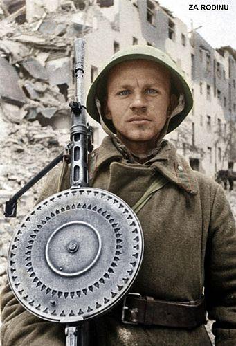 Soviet machine gunner