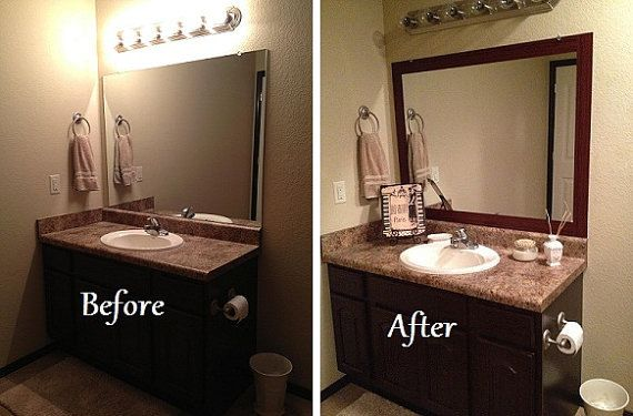 Stick On Frame Adhesive Frame For Bathroom Mirrors And