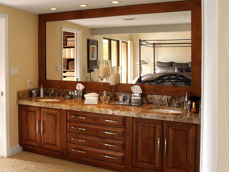 incredible designs bathroom interior with wood vanity and granite countertop