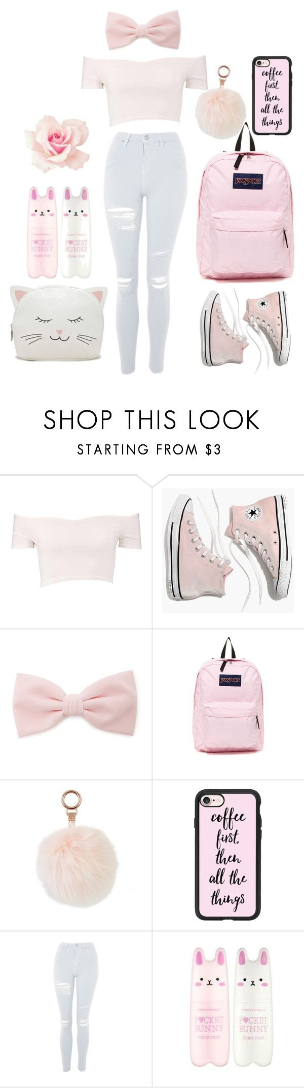 """Girly Back To School♡"" by emsliewall13 on Polyvore featuring Boohoo, Madewell, Forever 21, JanSport, Casetify, Topshop and Tony Moly"