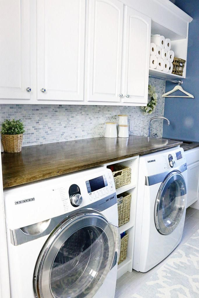 Love The Countertop Over The Washer Dryer Removable To Access