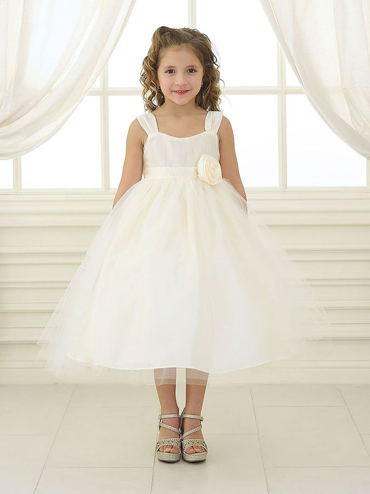Available in soft pastel tones, this adorable little taffeta dress is perfect for any little flower girl or Easter dress. You will love the charming little cap sleeves and adorable hand rolled rosette