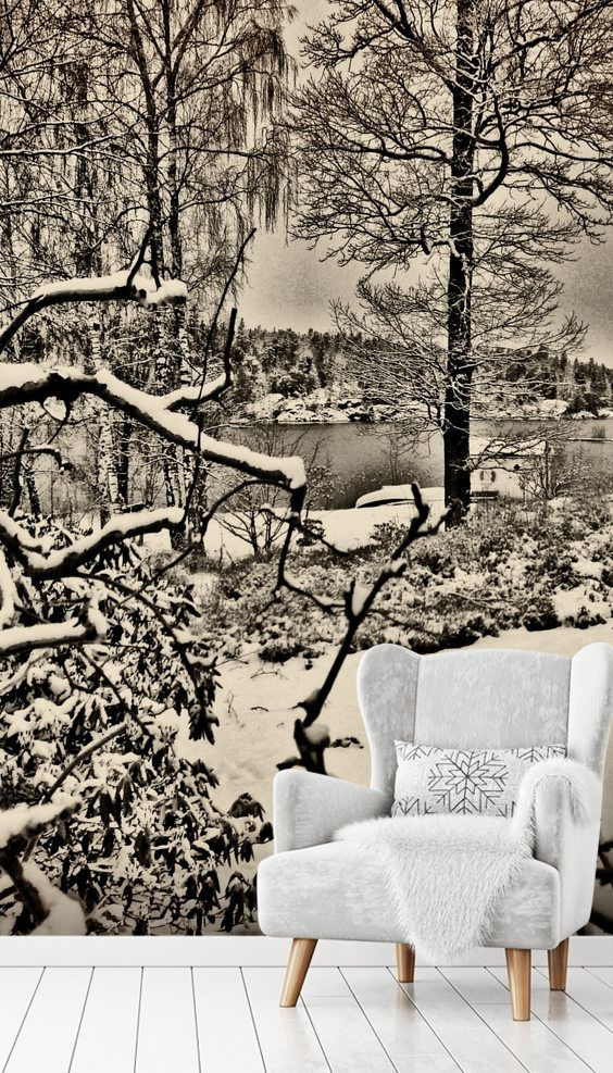 winter sweden in 2019 красиво wall murals, landscape walls, wallwinter sweden amazing winter sweden wall mural from wallsauce this high quality winter sweden wallpaper is custom made to your dimensions