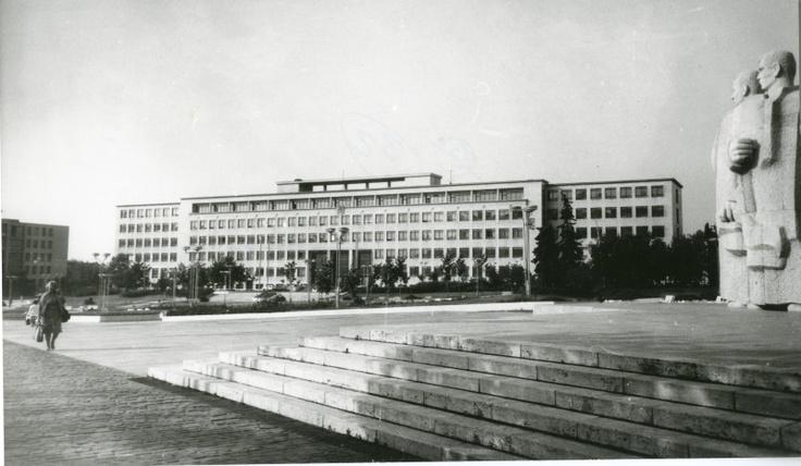 Pavilon teoretických ústavov SVŠT. Zdroj: archív ÚSTARCH SAV.