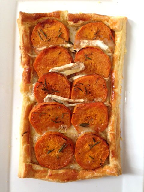 Roasted Butternut and Camembert galette from my Love to bake Class