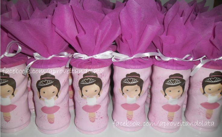 Lata decorada - Bailarina www.facebook.com/aproveitandolata instagram @anadaslatinhas mais informações anadaslatinhas@hotmail.com