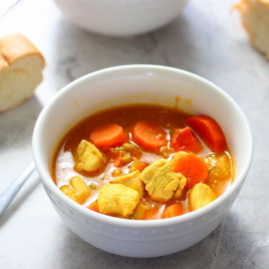 Carrot and Tomato Chicken Stew