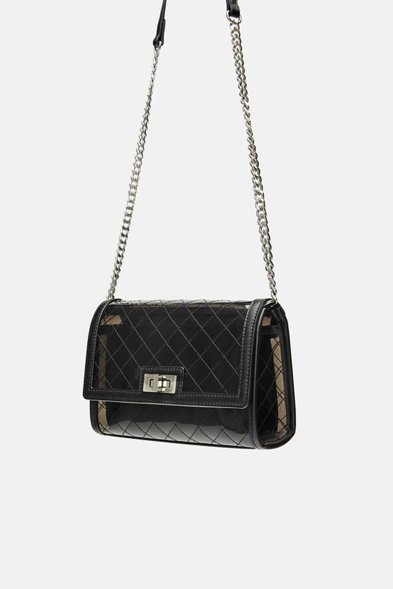 4dfd9a68531b Image 6 of VINYL CROSSBODY BAG WITH INNER BAG from Zara