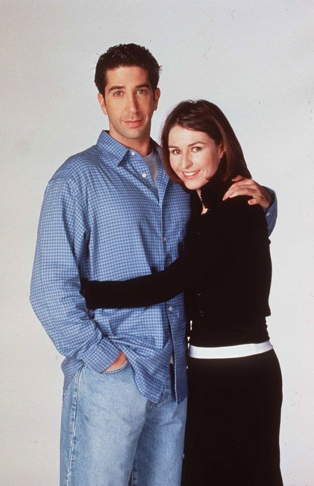 David Schwimmer and Helen Baxendale.