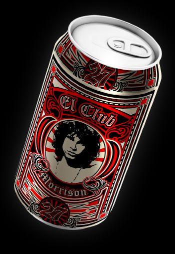 "Diseño para cerveza artesanal concepto ""Club 27"""