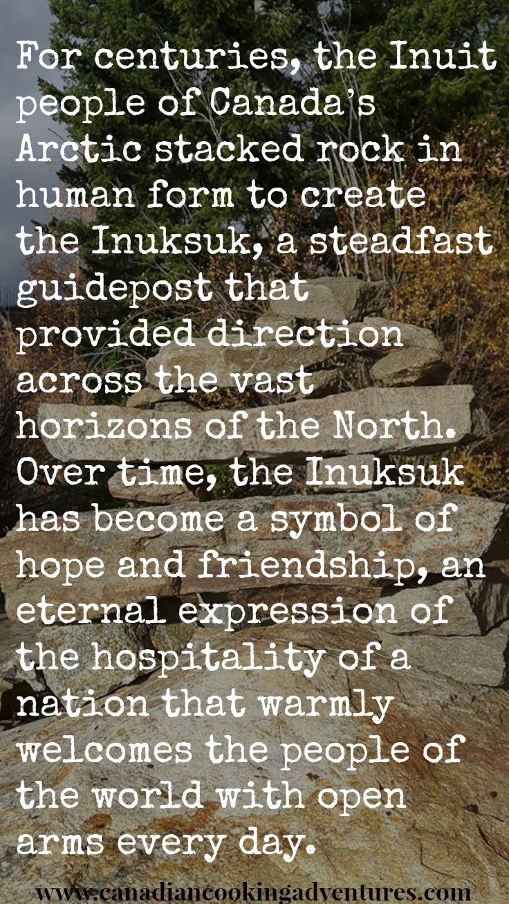 For centuries, the #Inuit people of #Canadas #Arctic stacked rock in human form to create the #Inuksuk, a steadfast guidepost that provided direction across the vast horizons of the North. Over time, the Inuksuk has become a symbol of hope and friendship, an eternal expression of the hospitality of a nation that warmly welcomes the people of the world with open arms every day. #canadian
