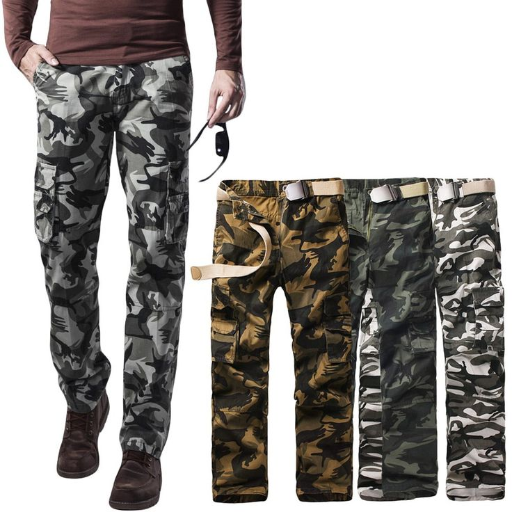 Only US$31.0, dark green 31 New Men Cargo Trousers Camouflage Multi-Pockets Camping Work - Tomtop.com