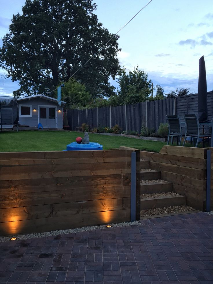 17 Best Images About Backyard Retaining Wall And Steps