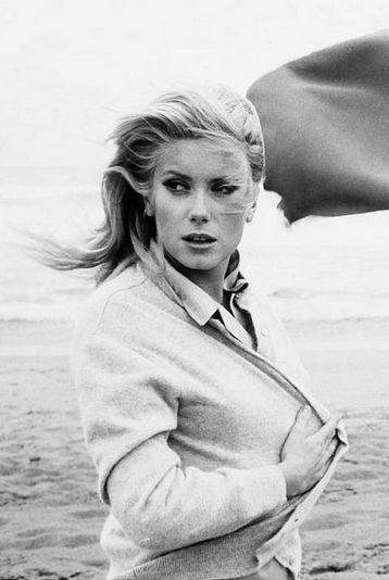 Catherine Deneuve photographed by Franco Pinna, 1964.