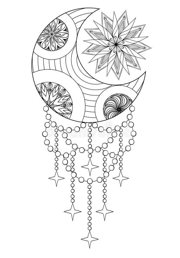 Pin By Ruby Quinones On Body Art In 2020 Mandala Coloring Pages Moon Coloring Pages Sun Coloring Pages