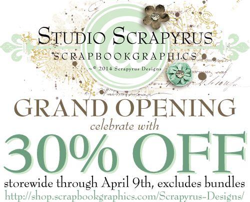 Scrapyrus Designs is now at ScrapbookGraphics !