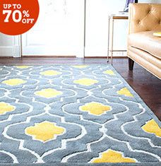 Gorgeous Floor Rug, Yellow U0026 Gray Rug, Wayfair A Farme / Anne Lafferty