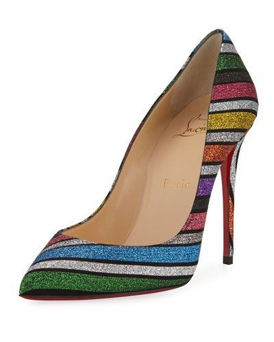 48a28325c735 X4BF1 Christian Louboutin Pigalle Follies Striped Red Sole Pumps ...
