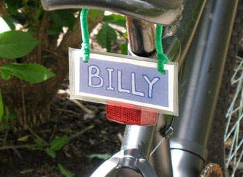 Kids can make their very own license plates for their bikes. Let them choose their favorite colors to really make it their own.