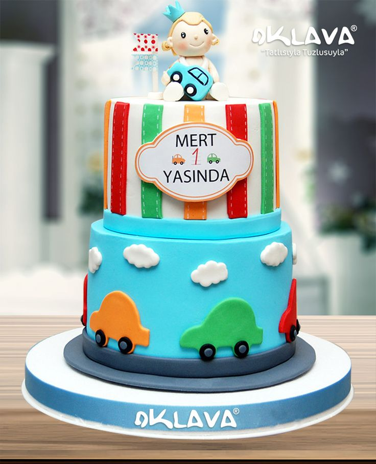 1 Yaş katlı doğum günü pastası