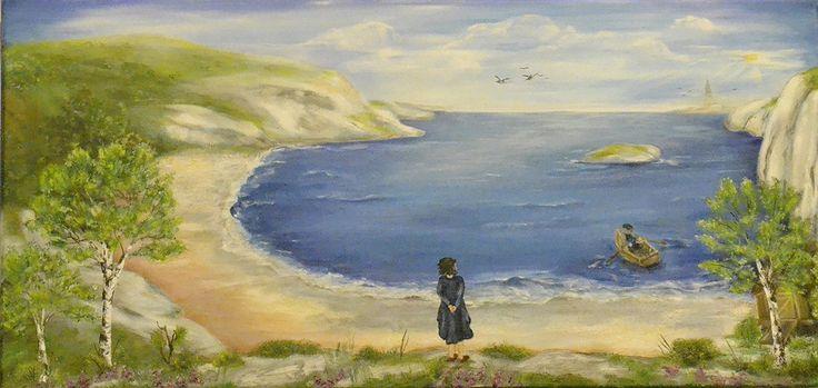 Grandma`s View oil on canvas  painter Anne Karin Stølan