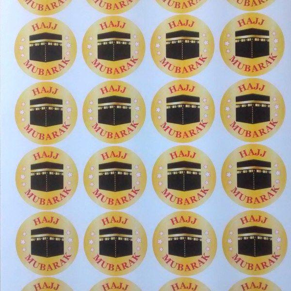 hajj mubarak stickers