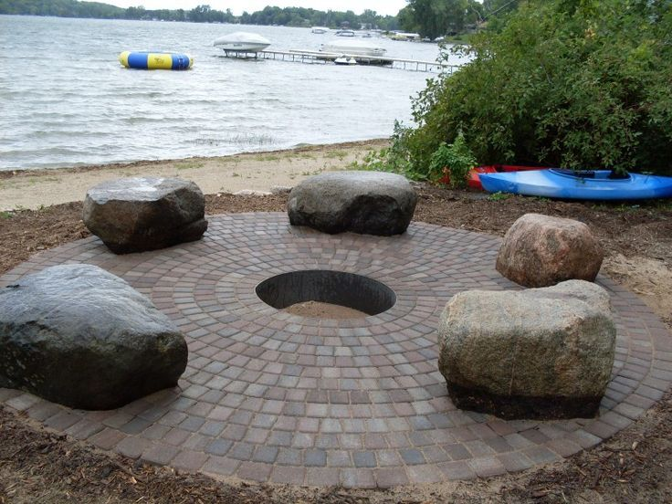 12 Best Paver Fire Pits Images On Pinterest Paver Fire