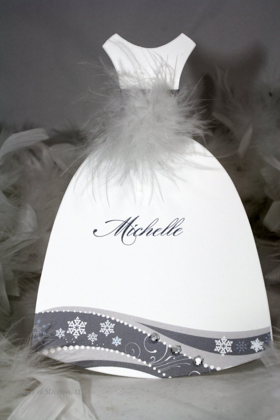 Be my bridesmaid, flower girl, or maid of honor.  Winter lux dress card by SDezigns $5.00