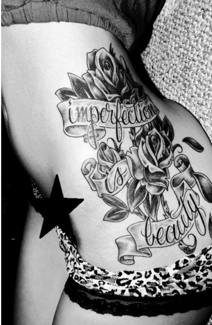 Rose Tattoo On Side Body tattooideaslive #rose #side #tattoos