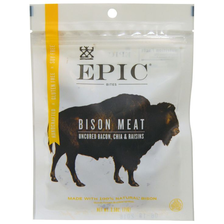 Epic Bison Meat, Uncured Bacon, Chia & Raisins 2.5 oz
