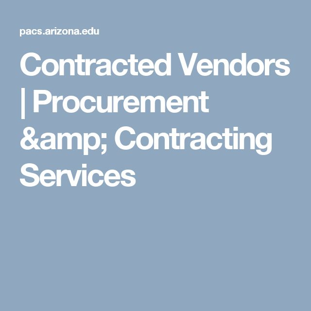 Contracted Vendors | Procurement & Contracting Services