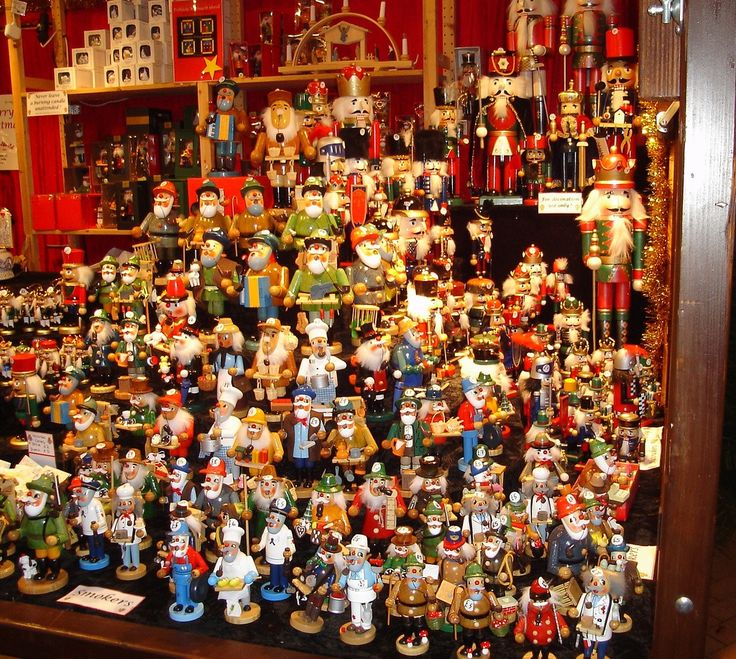 Nutcracker stall at a German Christmas market. I remember growing up with German nutcrackers in my house. I need one!