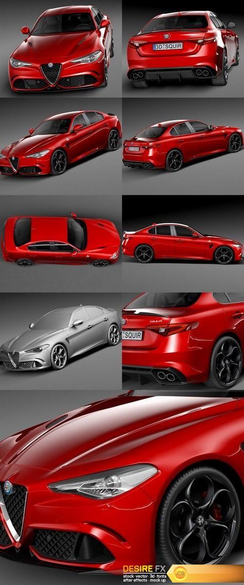 Alfa Romeo Giulia Quadrifoglio 2016 3D Model  http://www.desirefx.me/alfa-romeo-giulia-quadrifoglio-2016-3d-model/