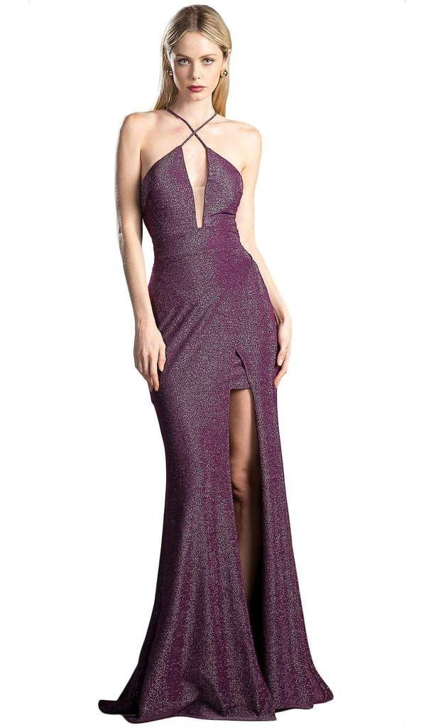 Cinderella Divine - Halter Neck Shimmer Sheath Dress Show off your classy style when you wear this dress by Cinderella Divine CF279-2. Look brilliant ...