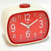 Found it at Wayfair - That 70's Retro Alarm Clock in Cream with Red Face